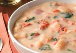 Лососевый суп с кукурузой